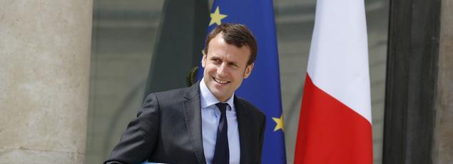 Emmanuel Macron à l'Élysée, le 8 juin 2016.