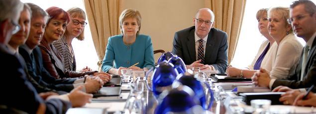La premier ministre Nicola Sturgeon, lors d'une réunion d'urgence à Edimbourg samedi.
