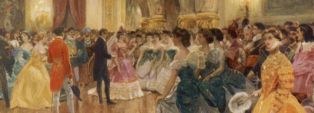 Une scène de bal au palais des Tuileries, vers 1863.