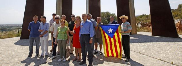 Des membres de la communauté «Oui au pays Catalan» protestaient vendredi contre le nouveau nom de la région Languedoc-Roussillon Midi-Pyrénées, «Occitanie».