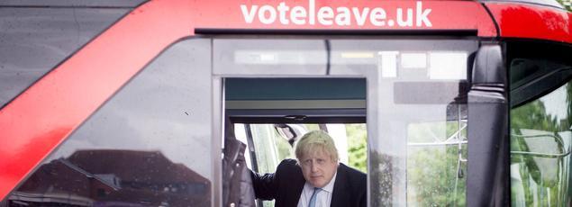 Boris Johnson (ici le 13 juin dans le comté du Berkshire pour la campagne du Leave)semble désormais trouver des vertus au marché unique.