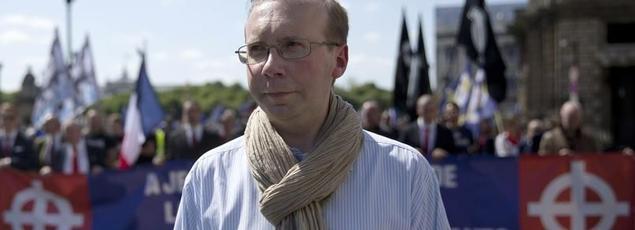 Alain Escada, président de Civitas (KENZO TRIBOUILLARD / AFP)