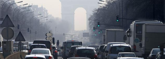 Embouteillages à Paris en mars 2014.