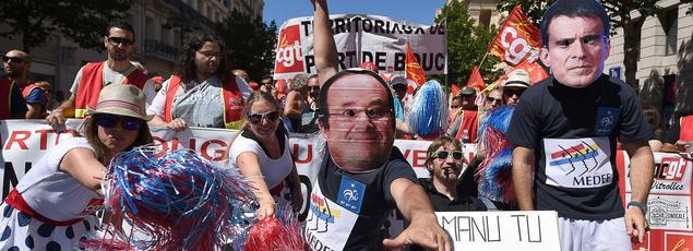 Une manifestation anti-loi travail, le 28 juin 2016, à Marseille.