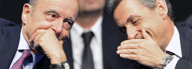 Alain Juppé et Nicolas Sarkozy, en octobre 2015.