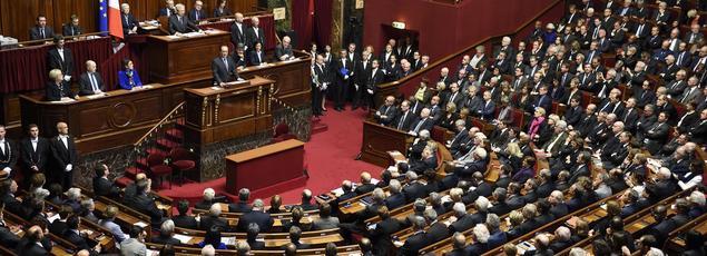 Les parlementaires réunis en Congrès à Versailles, le 15 novembre 2015.