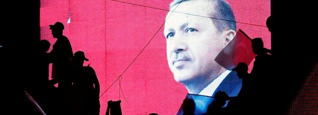 Une manifestation pro-gouvernement à Ankara, le 17 juillet.