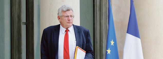 Christian Eckert, secrétaire d'État au Budget, sortant de l'Élysée, le 8 juillet.