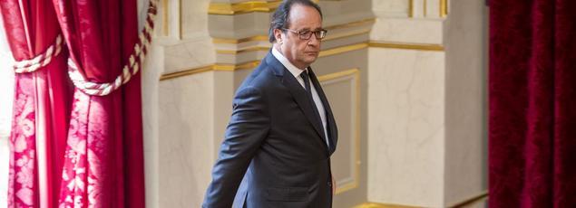 François Hollande, à l'Élysée, vendredi.