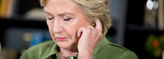 Hillary Clinton le 22 juillet lors d'une table ronde à Orlando.