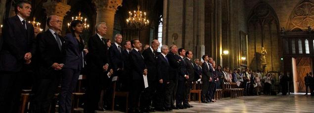 Messe à Notre-Dame de Paris suite à l'attentat de Saint-Etienne-du-Rouvray.