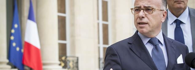 Bernard Cazeneuve, ministre de l'Intérieur, sortant de l'Élysée mercredi.