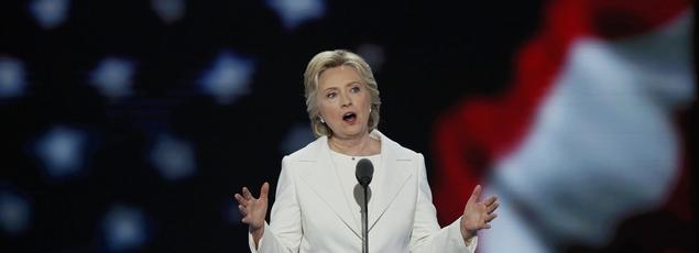 Clinton s'est adressée dès le début de son allocution aux partisans de son rival de la primaire, le sénateur du Vermont Bernie Sanders.