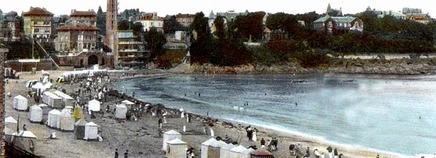Vue de Dinard et la Malouine vers le début du 20è siècle.