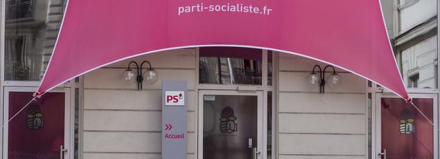 Le siège du Parti socialiste, à Paris, le 30 mars 2015.