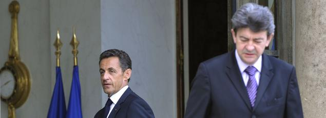 Nicolas Sarkozy et Jean-Luc Mélenchon