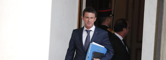 Manuel Valls à l'Élysée, le 27 juillet 2016.