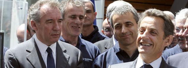 François Bayrou et Nicolas Sarkoy en 2010