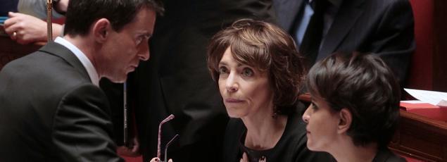 Manuel Valls et Najat Vallaud-Belkacem à l'Élysée, le 9 décembre 2015.