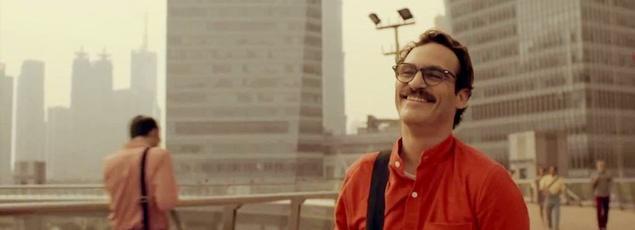 Dans «Her», Joaquin Phoenix a pour principale interaction sociale un assistant virtuel avec lequel il s'exprime oralement.