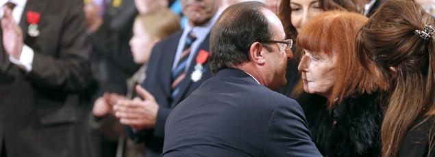 François Hollande et Sonia Rykiel en novembre 2011