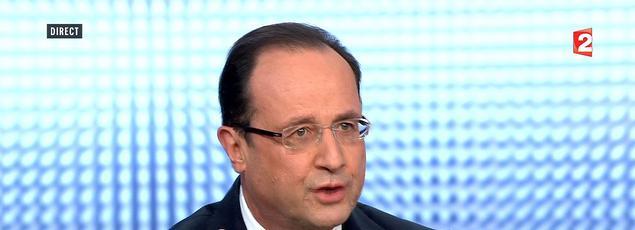 François Hollande le 28 mars 2013 sur France 2.