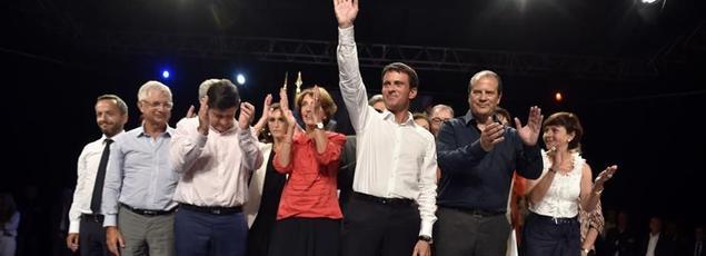 Manuel Valls lors du grand meeting de la rentrée du Parti socialiste, lundi à Colomiers (Haute-Garonne).
