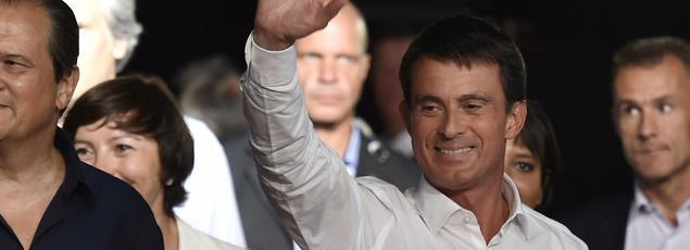 Le Premier ministre Manuel Valls, lundi, avant son intervention à Colomiers.