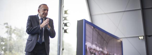 Pierre Gattaz, le président du Medef, lors de l'ouverture de l'université du Medef de 2015 (Crédit photo: François BOUCHON / Le Figaro)