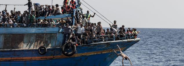 Sauvetage en mer de migrants au large de la Libye