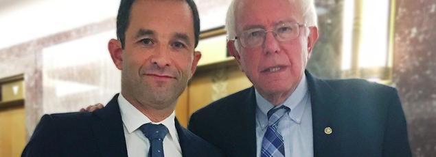 Benoît Hamon a posté une photo de lui avec le démocrate américain Bernie Sanders sur Twitter.