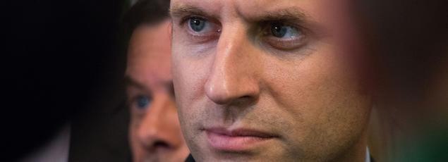 Emmanuel Macron à Saint-Jacques-de-la-Lande, le 14 septembre 2016.
