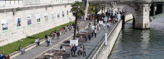 Depuis le 4 septembre, date de la fin de Paris plage, la voie Georges-Pompidou est restée fermée à la circulation automobile.