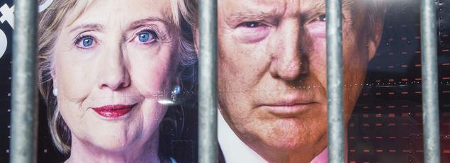 Le premier débat télévisé entre les deux candidats a lieu lundi soir, à l'université Hofstra (État de New York).