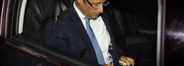 François Hollande à Périgueux, le 26 mai 2011.