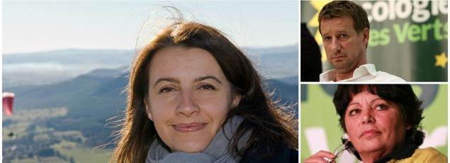 De gauche à droite: Michèle Rivasi, Yannick Jadot, Karima Delli et Cécile Duflot (Montage par le Figaro)