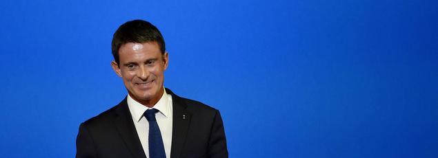 Manuel Valls, samedi à Groix.