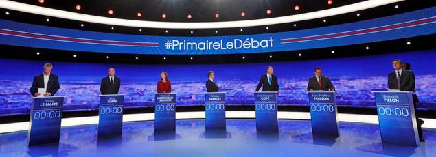 Les candidats à la primaire à droite à la Plaine Saint-Denis, le 13 octobre 2016.