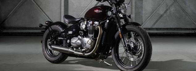 Avec ce superbe Bobber sur base Bonneville Triumph défie Harley-Davidson sur son terrain.