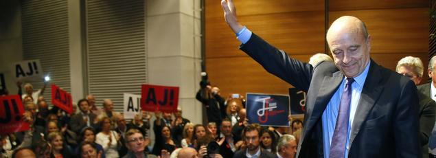 Alain Juppé en déplacement à Biarritz.
