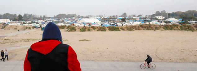 La «jungle» de Calais, dimanche, à la veille de l'évacuation.