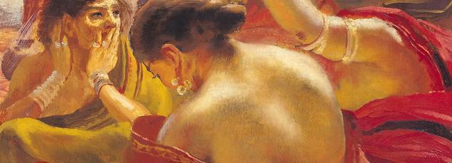 Albert Besnard a rapporté de son voyage en Inde des tableaux aux couleurs chamarrées: ci-dessus, Femmes de Madura à la fontaine (musée de la Chartreuse de Douai).