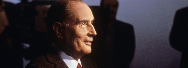 François Mitterrand lors du face-à-face télévisé avec Jacques Chirac (alors premier ministre), le 29 Avril 1988.