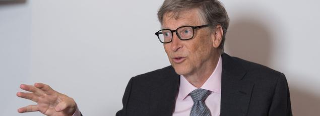 Bill Gates, dans les locaux de la maison de production ITV Studios, à Londres, mercredi.