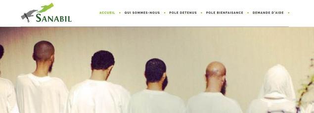 Capture d'écran de la page d'accueil de Sanabil.