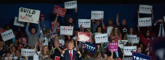 Donald Trump en campagne dans la ville de Youngstown, jeudi dans l'Ohio.