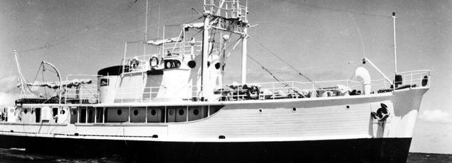 La Calypso est le navire de recherches océanographiques dirigé par le commandant Jacques-Yves Cousteau.