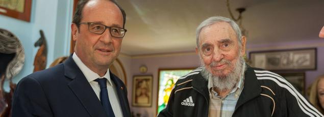 François Hollande et Fidel Castro en mai 2015 à La Havane.