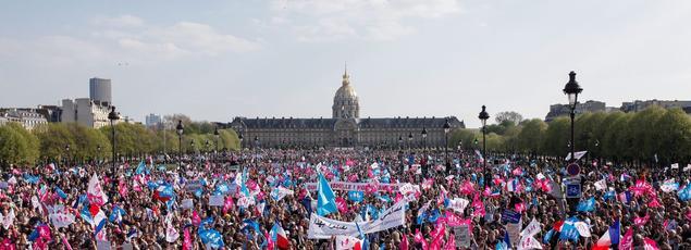 Le 21avril 2013, la Manif pour tous est rassemblée devant les Invalides. «Un Mai68 conservateur», selon Gaël Brustier
