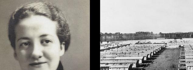 À gauche Germaine Tillion vers 1935, ethnologue et ancienne résistante déportée au camp de Ravensbrück situé en Allemagne près de Berlin.